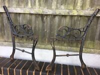 1 Pair Of Cast Iron Garden Bench Ends- can deliver