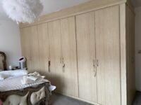 Beech laminate wardrobe doors