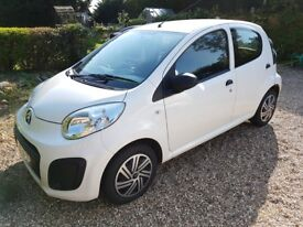 2013 white 5 door citroen C1