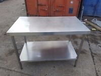 stainless steel table prep table work bench for restaurant and catering kitchen