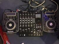 X2 Numark NDX400 with Numark5000fx mixer