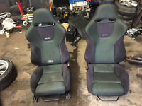 honda accord type r reacro bucket seats with rails civic ej9 eg ek4 vti