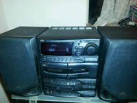 JVC Mini Hifi Sound System {with remote control}