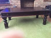 Coffee table - Indian shisha wood style coffee table
