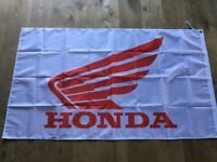 Honda motorcycles cub fireblade quad workshop flag banner