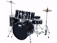 Drum Kit 5-Piece with Stands, Stool & some Extras