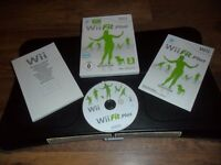 BLACK NINTENDO WII FIT BOARD & WII FIT PLUS GAME