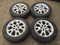 """For sale - alfa Romeo 147 / 156 15"""" alloy wheels - excellent tyres"""