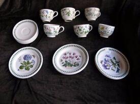 Portmeirion Botanic Garden Tea Set 6 Placings Weymouth
