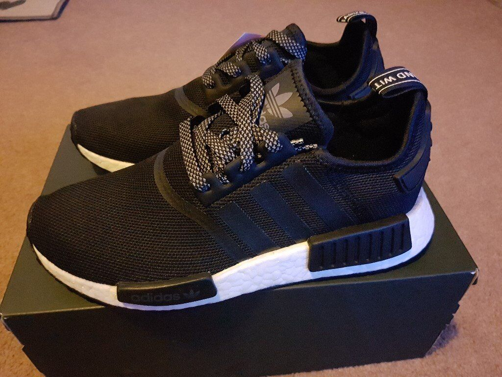 38e351c7f4287 NEW Adidas NMD R1 Reflective Black 3M UK Size 6