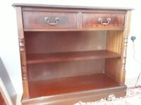 Bookcase, display cabinet and coffee table all matching