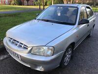 Hyundai Accent GSI 1341cc Petrol Automatic 5 door hatchback V Reg 07/02/2000 Silver