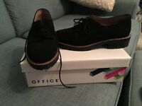 Brand new Office, Black suede brogues size 5