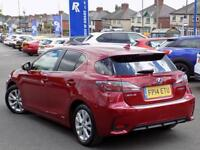 LEXUS CT 1.8 200H PREMIER 5dr AUTO (135) * Leather & Sat Nav * (red) 2014