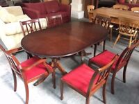 Elegant classic dining table and 6 chairs