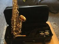 Jupiter Jas 567 Saxophone with case and reeds included.