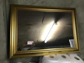 Gold framed large mirrors