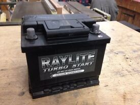 Raylite Turbo Start 063 45AH 12V Car Battery, Unused