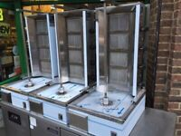 NEW GAS 4 BURNER DONER KEBAB SHAWARMA GRILL MACHINE CATERING COMMERCIAL KITCHEN TAKE AWAY SHOP