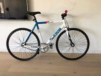 Cinelli Vigorelli 53cm custom Fixed-wheel bike, BLB silver crankset, Campagnolo skeleton front brake