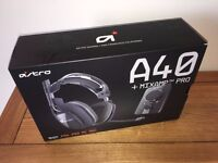 ASTRO A40 Headset and MixAmp Pro - Gen 2 - 2015 Model NEW DARK GREY