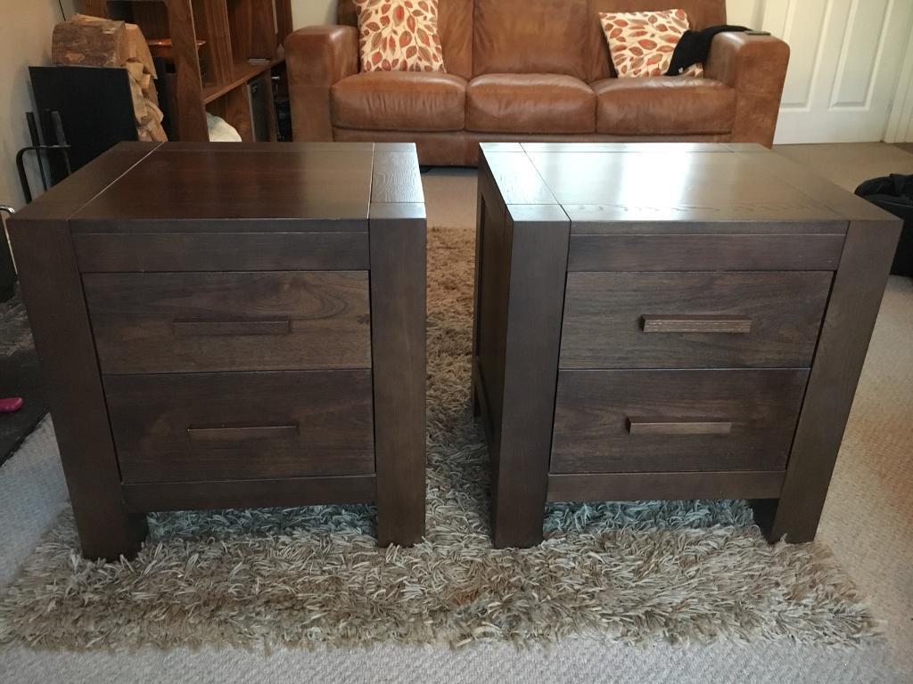 3b025345e8fa Bentley Lyon walnut bedside drawers x 2