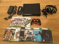 120gb ELITE XBOX 360 CONSOLE with 10 GAMES & HEADSET £30 no offers