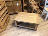 90cm x 60cm oak coffee table