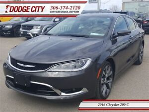 2016 Chrysler 200 C | FWD - Heated Seats, Backup Cam, Remote Sta