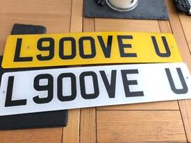 Cherished private registration number plate L900VE U