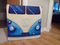 Retro Volkswagen Campervan Canvas Poster - £20 o.n.o