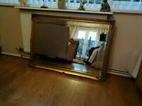 Extra large Gilt Edged Stunning mirror with bevelled edged glass