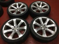 Set of 4 Used Wheels Replica BMW wheels have been fitted to VW Transporter T5