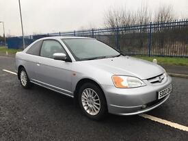 Honda Civic coupe 1.7 petrol motd til April 2002 £300 no offers