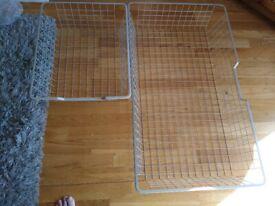 Wire storage trays