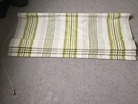 Laura Ashley made to measure Roman Blind - green Irving Stripe