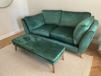 Bargain! Brand new unused Marks and Spencer sofa and footstool