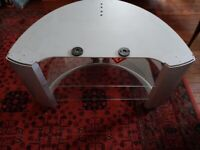 Silver Glass former TV stand