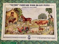 Classic Victory Farmyard wooden jigsaw puzzle
