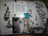 new brushed cotton double duvet cover and 2 pillow cases
