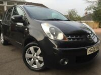 *12 MONTHS WARRANTY*12 MONTHS MOT(NO ADVISORYS)*2008(08)NISSAN NOTE 1.6 ACENTA R AUTOMATIC*MAY PX*