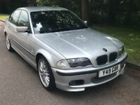2001 BMW 325I M SPORT SILVER WITH BLACK LEATHER 07379239455