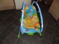 TINY LOVE VIBRATING BABY BOUNCER USED ONCE IN AS NEW CONDITION