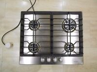 Gas hob by John Lewis, four burners, electric ignition
