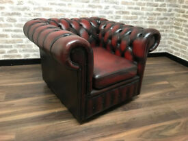 Oxblood Chesterfield Club Chair