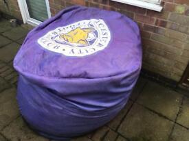 Leicester city bean bag