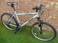 Trax 19 inch framed mountain bike with front suspension