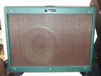 Fender hotrod deluxe limited edition emerald green with ox blood grill and cannabis rex speaker