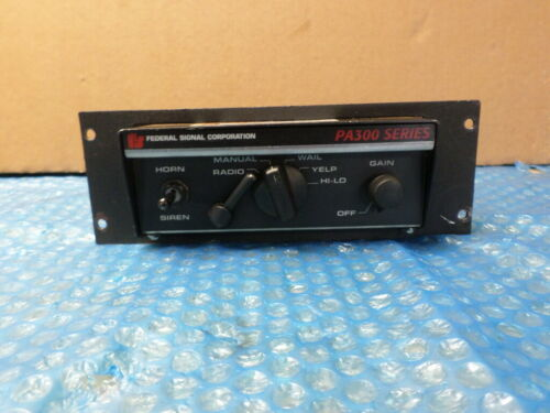 Vintage Federal Signal PA300 Series Electronic PA System 690000 690001