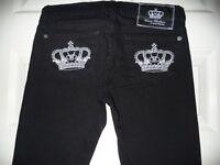 Victoria Beckham Rock Republic Black Cotton Trousers/Jeans, Size 25, As New !